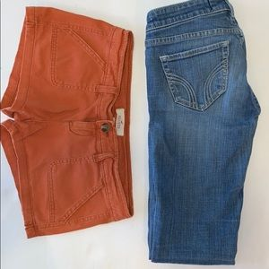 Hollister Jeans & Shorts Lot Size 0